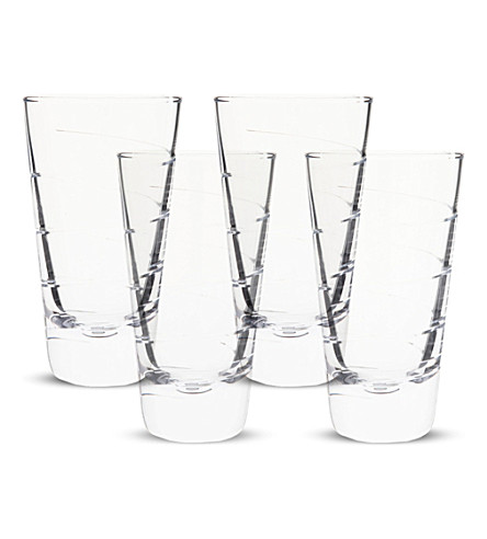LSA Set of four Charleston highball glasses