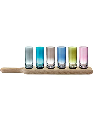LSA Paddle vodka set and oak paddle 40cm