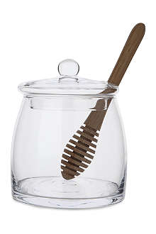 LSA Serve Honey Pot and oak dipper 12.5cm