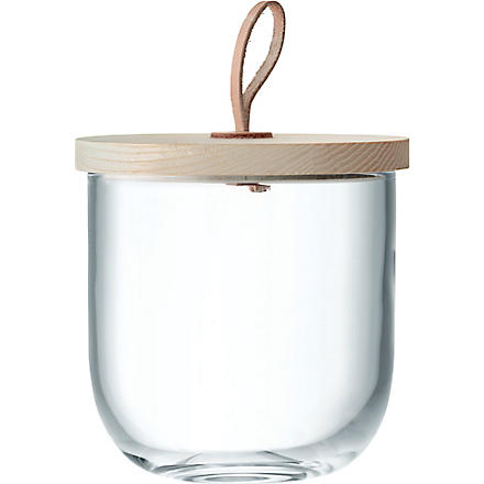 LSA Ivalo glass container and Ash lid 15.5cm
