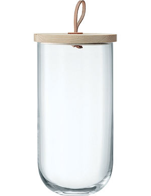 LSA Ivalo glass container and Ash base 29.5cm