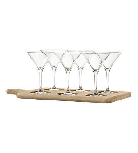 LSA Oak paddle cocktail set
