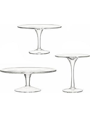 LSA Serve 3 piece glass cakestand set