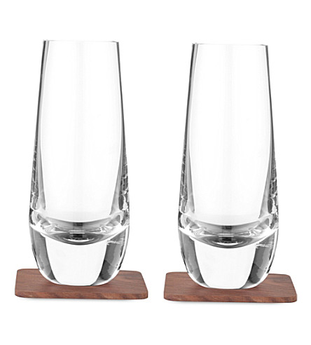 LSA Set of two islay mixer glasses and coasters