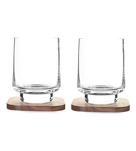 LSA Set of two city bar tumblers and coasters
