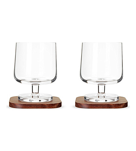 LSA Set of two city bar cognac glasses and coasters