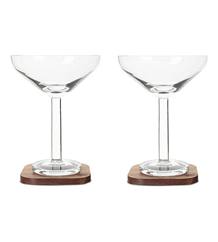 LSA City bar cocktail glass coaster x 2