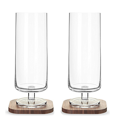LSA Set of two city bar lager glasses and coasters