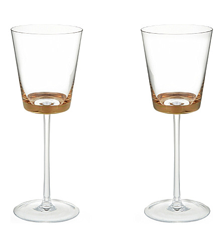 LSA Edge white wine glasses set of two