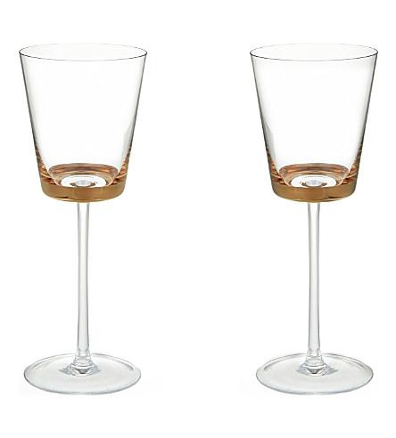 LSA 边缘白色葡萄酒眼镜套两