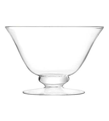 LSA Serve footed glass bowl 15.5cm