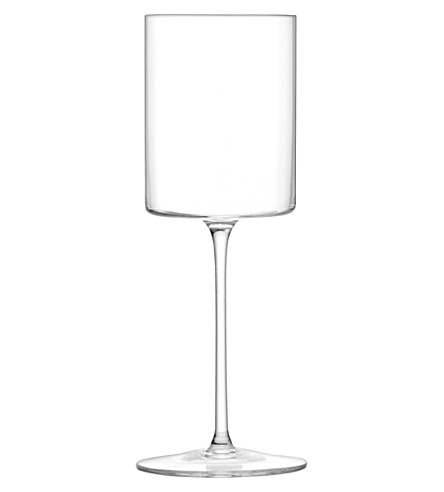LSA Otis white wine glasses set of four
