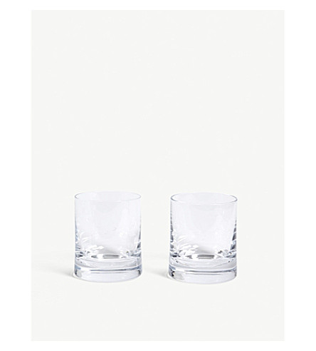 LSA Glass gin tumblers set of two