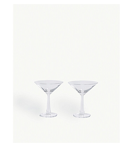 LSA Gin cocktail glasses set of two