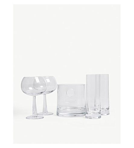 LSA Gin ice set glasses set of five