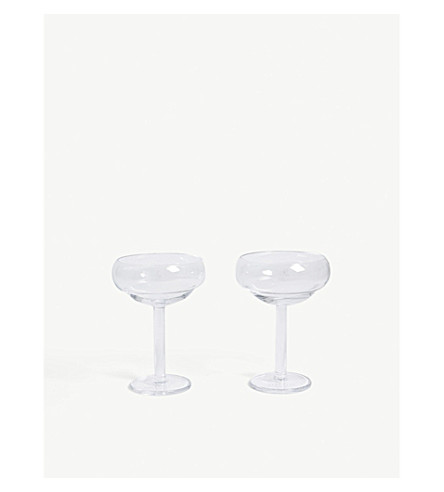 LSA Cocktail coupe glasses set of two