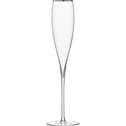 LSA Savoy Platinum pair of champagne flutes