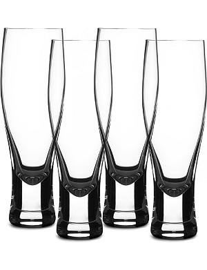 LSA Bar set of four lager glasses