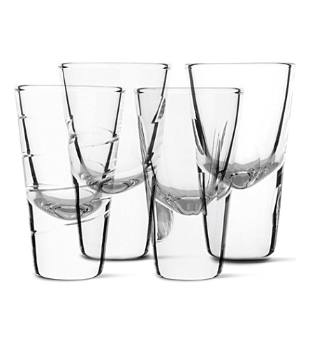 LSA Set of four Charleston vodka glasses
