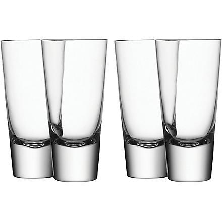 LSA Set of four Bar long mixer glasses