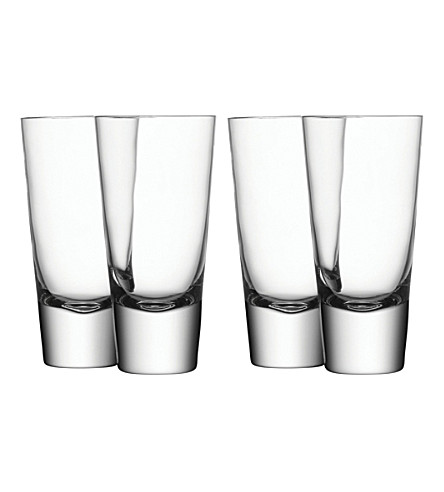 LSA Set of four Bar long mixer glasses