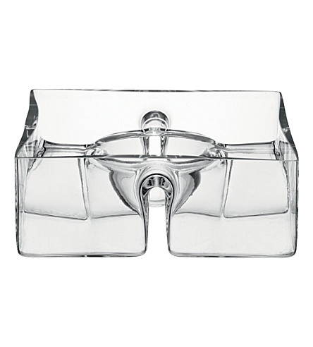 LSA Serve square platter clear