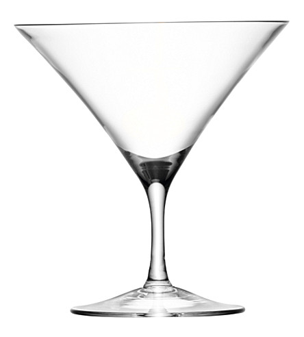 LSA Bar set of four martini glasses