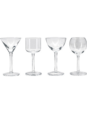 LSA Lulu assorted liqueur glasses set