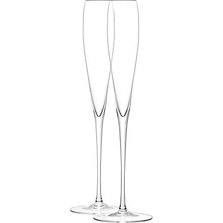 LSA Set of two Grand champagne flutes