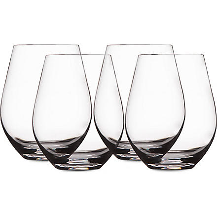 LSA Wine set of four stemless red wine glasses
