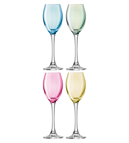 LSA Set of four Polka liqueur glasses