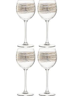 LSA Set of 4 cocoon wine glasses