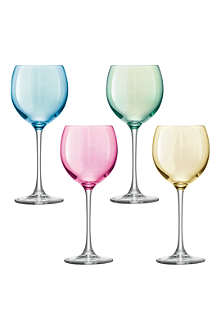 LSA Set of four Polka wine glasses