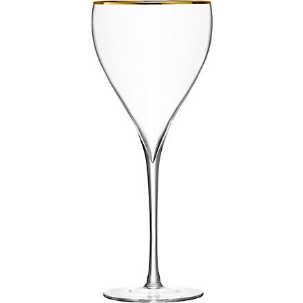 LSA Savoy Gold wine glasses pair