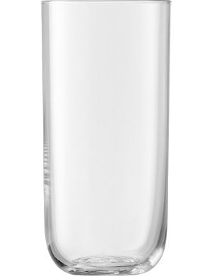 LSA Uno Clear set of four highball glasses