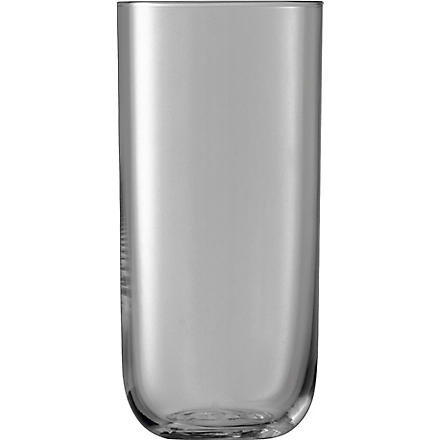 LSA Centro Slate highball glasses set of four