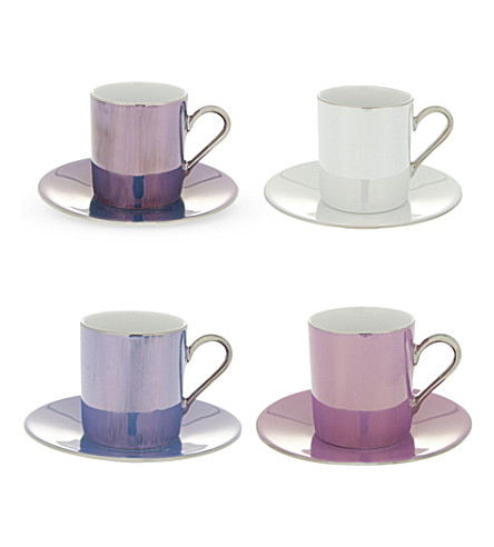 LSA Polka coffee cup saucer set of four