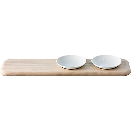 LSA Dine condiment set and platter