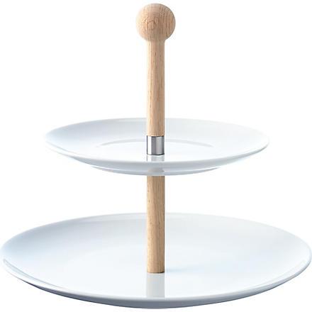 LSA Dine tiered cake stand 25cm