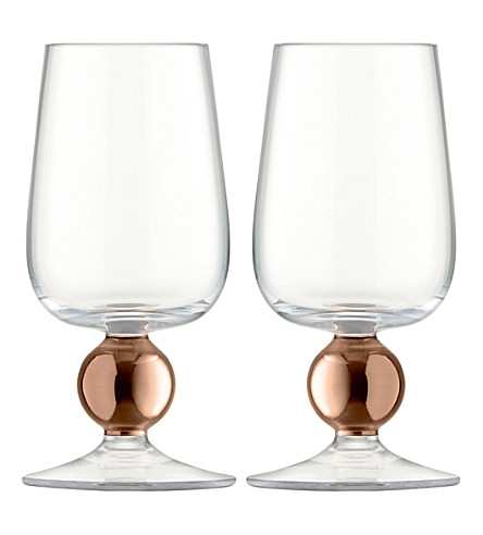 LSA Oro set of two white wine glasses