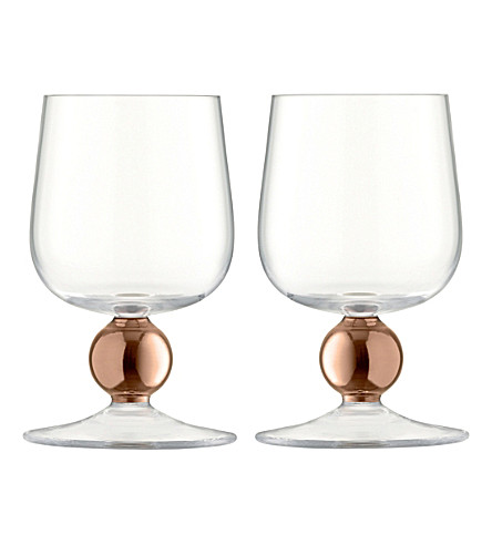 LSA Oro set of two red wine glasses