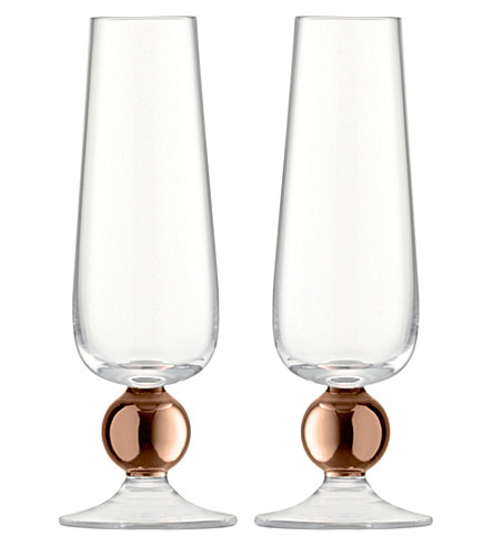 LSA Oro set of two champagne flutes