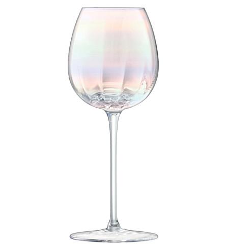 LSA珍珠套四白色葡萄酒眼镜