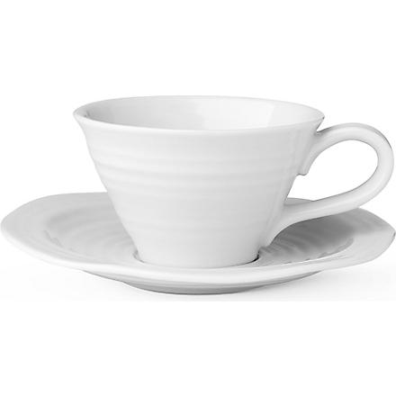 PORTMEIRION Sophie Conran cup and saucer (White