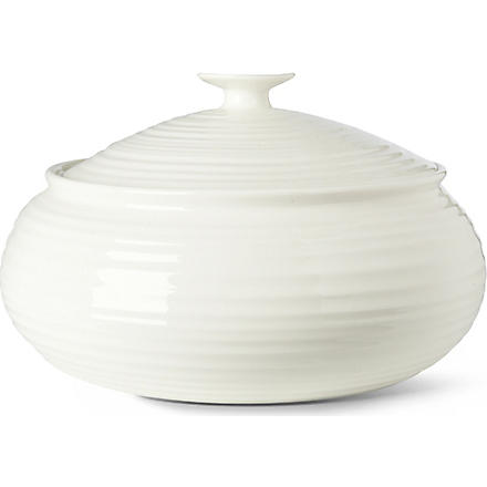 PORTMEIRION Sophie Conran covered vegetable dish (White