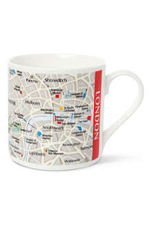 MCLAGGAN SMITH MUGS London Map mug