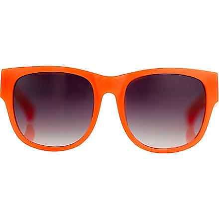 LINDA FARROW Matthew Williamson wayfarer-style sunglasses (Fluro+orng