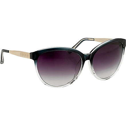 LINDA FARROW Matthew Williamson cat-eye sunglasses (Ocean+/+clear