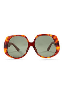 LINDA FARROW The Row leather D-Frame sunglasses