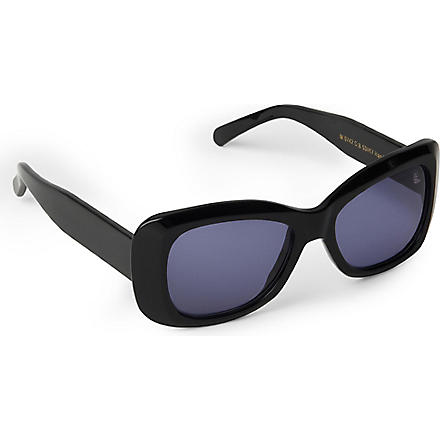 CUTLER AND GROSS Classic Jackie O square-frame sunglasses (Black